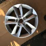 "2012 PEUGEOT 508 HDI STYLE 04 17"" 5 SPOKE ALLOY WHEEL GENUINE OEM 9671401380"